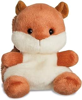 AURORA, 61352, Palm Pals Nibbles Squirrel, 5In, Soft Toy, Brown & Beige
