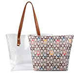 Shoulder Bags,2 in 1 Women Handbags Clear Bag with Signature Inner Bag (Colorful)