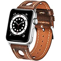 Genuine Leather Replacement Strap for Apple Watch 6/5/4/3/2/1/SE