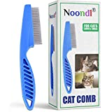 Cat Comb for Long Haired Cats with Matted Hair and Flea Removal in One BY Noondl PETS