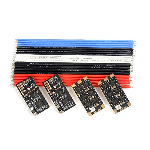 MeterMall 4 PCS Holybro Tekko32 F3 35A ESC BLHeli_32 3-6S F3 MCU Dshot1200 Build In Current Sensor WS2812B LED