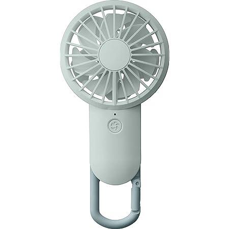 リズム(RHYTHM) 携帯扇風機 【2020モデル】国内メーカー 弱でも涼しい 静音 DCモーター 2重反転ファン USB 充電式 カラビナ 小型 強風 ブルー 9ZF028RH04 17.7x8.5x3.5cm