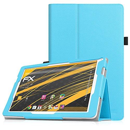 Fintie TrekStor SurfTab xintron i 10.1 Hülle Hülle - Slim Fit Folio Kunstleder Schutzhülle Cover Tasche mit Ständerfunktion für TrekStor SurfTab xintron i 10.1 (25,7 cm (10,1 Zoll) wi-fi Tablet (nicht geeignet für TrekStor SurfTab xintron i 10.1 3G Tablet), Blau