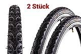 2 Stück 28' Zoll Continental Contact Plus TRAVEL 42-622 Fahrrad Reifen 28x1.6 Mantel Decke Reflexstreifen