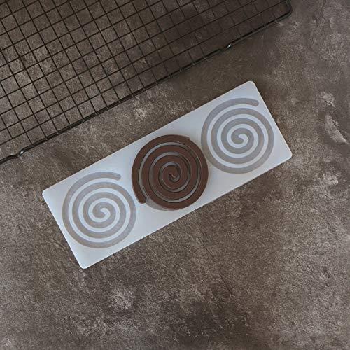SHUHUI Whirlpool Forme Silicone Moule À Chocolat Tourbillonne Forme De Cercle Décoration Feuille De Transfert Moule Gâteau Top Décotation