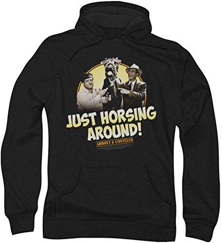 Abbott & Costello - - La Horsing hommes Autour Hoodie, Large, Black
