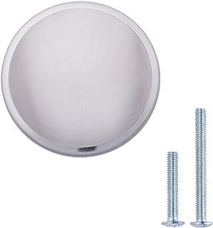 AmazonBasics - Pomo de armario, con forma de seta, 3,02 cm de diámetro, níquel satinado - paquete de 10