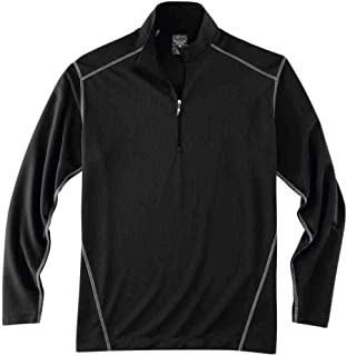 Rivers' End Mens Long Sleeve Half Zip Mock Neck Athletic Outerwear Layering,