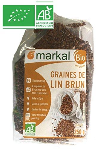 Graines de LIN Brun BIO - 2 Sachets de 250g