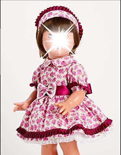 Mariquita Pérez- Conj Flores Violeta Complementos, Color Vestido de colección diseño...