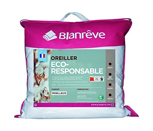 Blanrêve Oreiller Eco Responsable 65 x 65