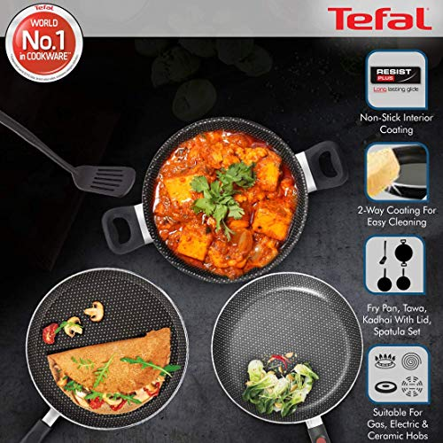 Tefal Simply Chef 5 Piece Non-Stick cookware Set (Rio Red)