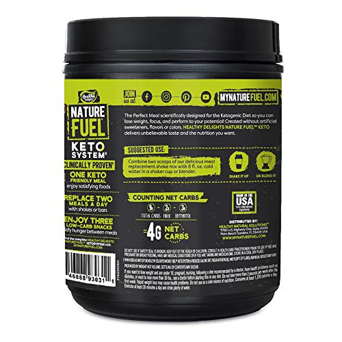 Nature Fuel Keto Meal Replacement Powder, Gluten Free with Coconut Oil, MCT Oil and Grass-Fed Butter, Double Chocolate Milkshake, 14 Servings 3