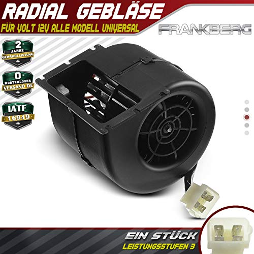 008-A100-93D - Ventilador radial para calefacción delantera (12 V, 260 m3/h, 5,3 A)