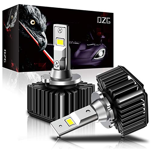 DZG D1S D1R Led Headlight Bulb D1S Led Bulb 35W 8400LM D1R Led Headlights Conversion Kit Plug And Play To Original HID Ballast -Pack of 2