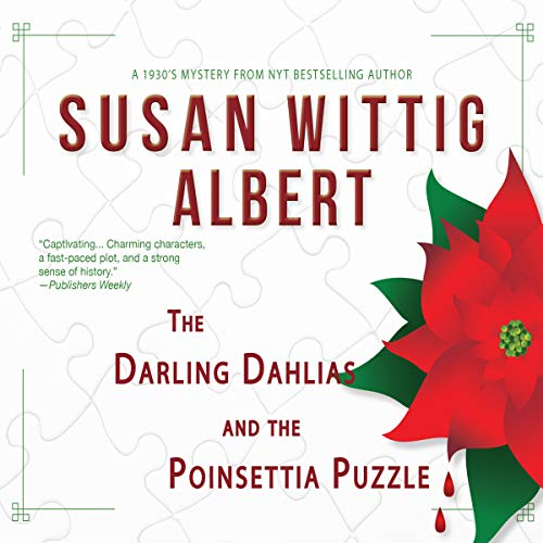 The Darling Dahlias and the Poinsettia Puzzle audiobook cover art