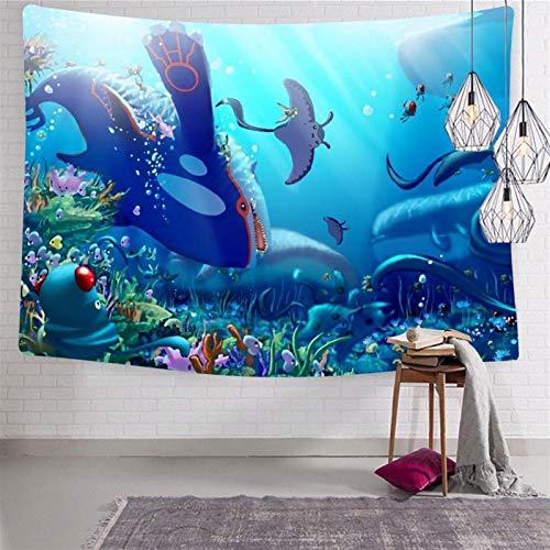 SJUK Tapestry Art Wall Hanging Po-k-emo-n Pik-ach-u Tapestry Decorations Bedroom Living Room Dorm 70.9 x 92.5 Inch