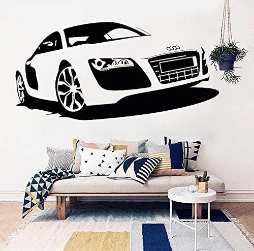 Cwktbs Schlafzimmer Dekorative Wandaufkleber Auto Shop Poster Kunst Design Wandaufkleber Auto Audi Racing Dekoration