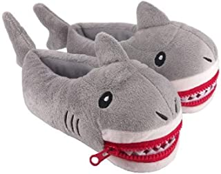 Shark Slippers Kids Animal Boys Plush Shark Girls House Slipper