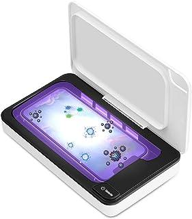 スマホ除菌器 除菌ボックス クリーナー 滅菌器 ケース 99%細菌消滅 家庭用/オフィス用 殺菌簡単操作 持ち運びに便利 スマホ 除菌ボックス iPhone Android ホワイト