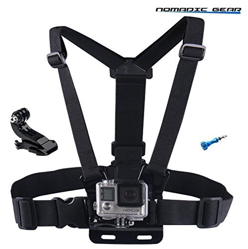 Nomadic Gear Adjustable Chest Mount Harness for Gopro Hero6 Hero5 Hero4 Hero3 Hero2 Hero Camera