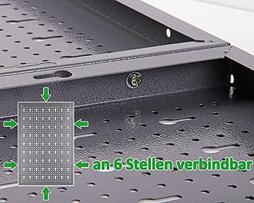 Ondis24 Werkzeugwand Lochwand aus Metall Werkstattwand mit Euro-Lochung 57 x 40 cm - 5