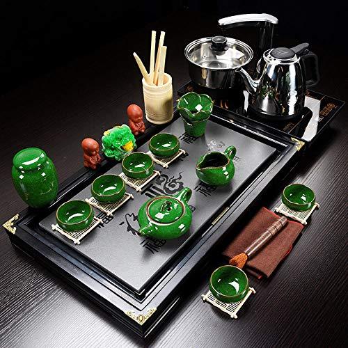 Alarmclocker8B Porcelana Azul y Blanca,Juego de té Chino Kungfu,Juego Completo de Tazas,Ver...