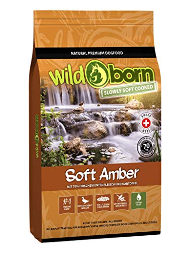 Wildborn Hundefutter getreidefrei Soft Amber 12 kg mit 70% frischem Entenfleisch