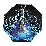 Diseño automático ligero compacto portátil del paraguas del viaje de la guitarra y alta resistencia al viento