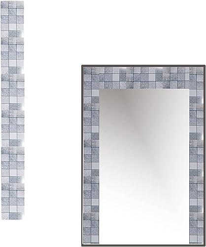 2021 Decorative Versatile lowest sale Adhesive Makeover Tile Sheets - Silver sale