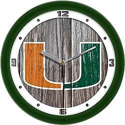 SunTime Miami Hurricanes - Weathered Wall Clock