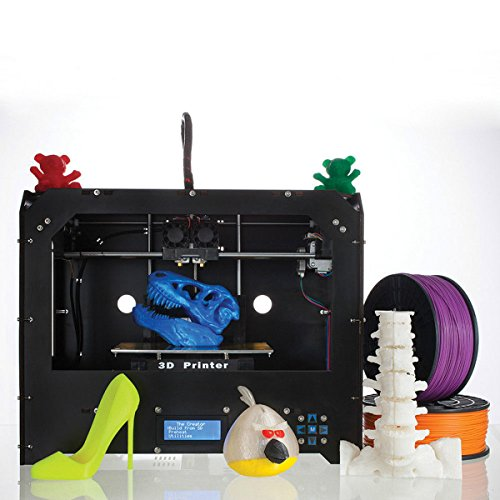 Win-Tinten Nuova doppio estrusore stampante 3D (stampante 3D desktop nero) contenimento 1x 1,75 millimetri ABS/PLA filamento (FDM-2)