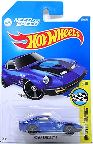 HOT WHEELS NEED FOR SPEED HW SPEED GRAPHICS BLUE NISSAN FAIRLADY Z 184/250 NEW FOR 2016 by Hot Wheels