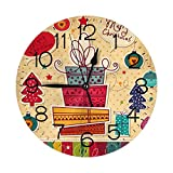 """Wall Clock 10"""" Round,- Battery Operated Wall Clock Non Ticking Silent Clocks for Home Decor Living Room Kitchen Bedroom Office School"""