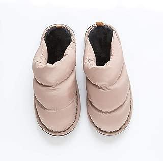 Winter Home Slippers Soft Bottom Non Zhaozb (Color : Khaki, Size : 44)