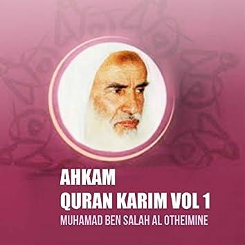 Ahkam Quran Karim Vol 1 (Quran)