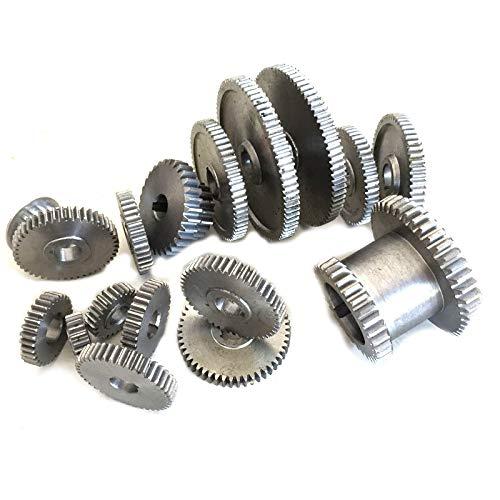 TOOGOO 17Pcs / Set Engranajes de Torno, Engranajes de MáQuina de Corte de Metal, Engranajes de Torno