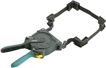 wolfcraft Einhand-Rahmenspanner 3681000 – Bandspanner zur schnellen Fixierung von Brettern & Rahmen – Ratschen Eckspanner mit 5m Spannband