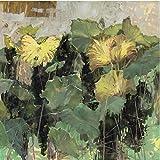Papel Pintado Fotográfico 400x280 cm - 8 tiras Hojas de plantas verdes abstractas Tipo Fleece no-trenzado XXL Salón Dormitorio Despacho Pasillo Decoración murales decoración de paredes moderna