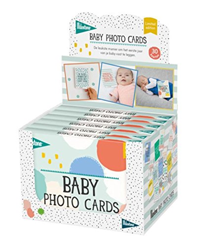 Baby photo cards cotton candy/ display met 6 losse set