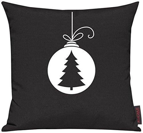 Shirtinstyle Kissenhülle Für Auserwählte! Sofakissen, Kissenbezug, Kissenhülle, Motiv Weihnachtskugel Weihnachtsbaum Tannenbaum, Farbe Schwarz