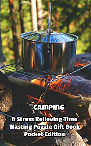 Camping a Stress Relieving Time Wasting Puzzle Gift Book