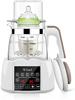Baby Bottle Warmer Steam Sterilizwer, Water Kettle Milk Adjuster Multifunction Bottle Warm Milk Intelligent Thermostat Food Heater, LED Display Heating Adjustment Boiling and Dechlorination