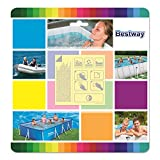 Bestway 62091 10 patchs de réparation waterproof de 42,30 cm2