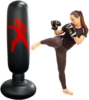 Oulian Saco de Boxeo Hinchable, 160cm Saco de Boxeo de Pie, Pilar de Boxeo de Espesamiento de PVC Saco de Boxeo Tumbler Fight Column para Adultos y Adolescentes, para Entrenamiento Intenso
