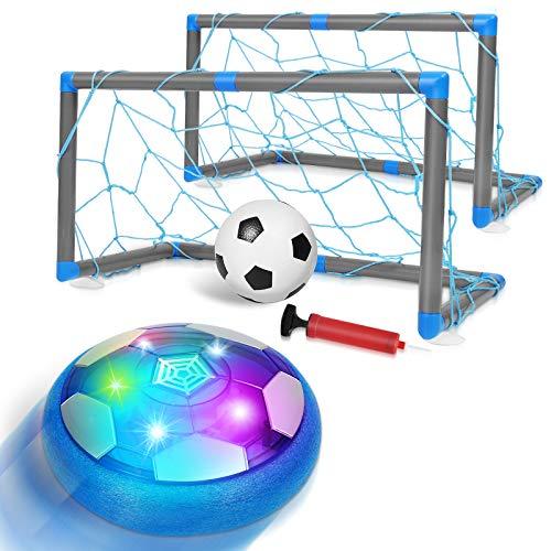 ARANEE Air Hover Calcio, Pallone Calcio Fluttuante Pallone Air Hover Calcio Ricaricabile per Bambini con Paracolpi in Bchiuma e Potenti Luci Regalo Giochi Bambini