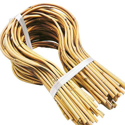 Flee Handmade 15 in. Bamboo Loop Stakes for Climbing Plants