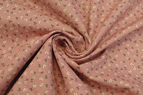 'Gütermann coton motif fleurs Vieux Rose