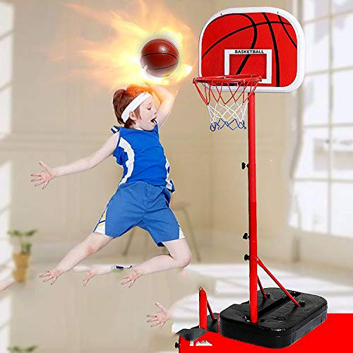 EODPOT Adjustable Portable Basketball Hoop and Stand,Basketball Net,Rebounder Netting,The Best Gift for Boys, Men, Basketball enthusiasts-200cm