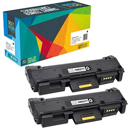 Do it Wiser Compatible Toner Cartridge Replacement for Xerox 106R02777 Phaser 3260 3260DI 3260DNI 3052 WorkCentre 3215 3215NI 3225 3225DNI - High Yield 2 Pack - 3,000 Pages